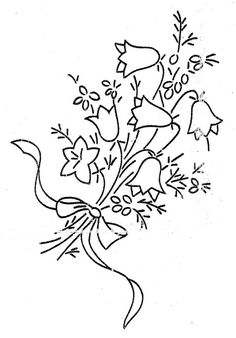 Lilies of the Valley Embroidery Transfers, Hand Embroidery Patterns, Vintage Embroidery, Embroidery Applique, Floral Embroidery, Cross Stitch Embroidery, Stitch Witchery, Sewing Art, Needlework
