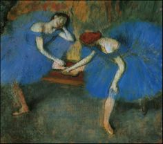 Edgar Degas Two Dancers in Blue painting for sale - Edgar Degas Two Dancers in Blue is handmade art reproduction; You can shop Edgar Degas Two Dancers in Blue painting on canvas or frame. Edgar Degas, Painting Frames, Painting Prints, Art Prints, Blue Painting, Claude Monet, French Impressionist Painters, Degas Paintings, Art Et Design