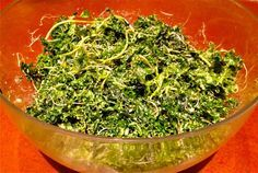 Dharma's Kale Salad Recipe. Kale is an incredible beauty superfood that is one of my personal favorites. It is packed with phytochemicals, fiber and chloropyll, a major blood builder. The cleaner the blood the more beautiful we are. ~Kimberly Snyder, C.N.