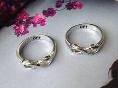 Infinity Ring,  BFF Best Friend Forever  Inifinity ring, couples ring, sisters infinity ring, infinity best friend via Etsy