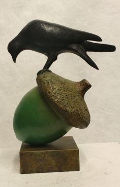 The Blackbird on Green Acorn
