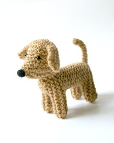 Knitted toy dog REX / made to order. $24.00, via Etsy.