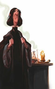 """See The New Back Cover Art For The UK """"Harry Potter"""" Books. Shown here the iconic Professor Snape. Harry Potter Fan Art, Harry Potter Books, Harry Potter Universal, Harry Potter Fandom, Harry Potter World, Harry Potter Hogwarts, Severus Snape, Hermione Granger, Harry Potter Ilustraciones"""
