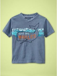 Henry's Save the Whales shirt.  Start em young...  On sale $5 (in store)