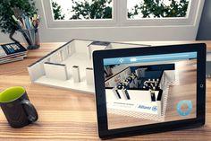 Exemple de réalité augmentée à partir d'une maquette imprimée en 3D