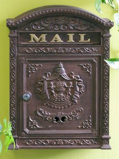 "Victorian Style Locking Mailbox (Rust Brown) (17.5""H x 12.25""W x 3.75""D)"