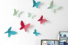 Vlinder Muurdecoratie van Umbra. Mooie driedimensionale vlinders, fladderen vrolijk en met veel plezier jouw kamer in. #huisdecoratie #muurtekst #vlinders #cadeau