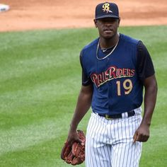 #tbt: Yankees ace Luis Severino pitching for the RailRiders in July 2016. How far Sevvy came in one year ... #RailRiders #swbrailriders #pncfield #yankees #nyyankees #baseball #beisbol #mlb #milb #luisseverino #pitching