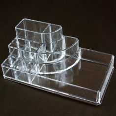 "Acrylic Lipstick Organizer by NILECORP. $4.98. 3 different high to show your cosmetic clearly; 6 3/4""W x 3 1/2""D x 2 5/8""H; (Brush and Makeup not include); Duralable Clear acrylic. Clear Acrylic Makeup Holder - Organizer"