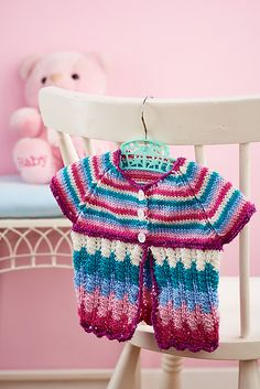 Ravelry: Stripy cardigan pattern by Wendy Mould