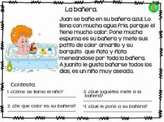 Spanish Books For Kids, Spanish Class, Reading Comprehension Passages, Beginning Reading, Spanish Language, Elementary Education, Second Grade, Homeschool, Teaching