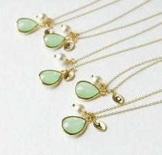 These necklaces are just darling. Perfect for someone special in your life. Dainty, delicate, Elegant . ♥ Currently I have 2 of every letter in the