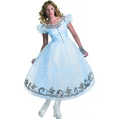 Alice in the movie of Deluxe Alice Adult Costume Wonderland - - Alice in Wonderland Movie Deluxe Alice Adult Costume Halloween Size: Small (4-6) (japan import): Amazon.de: Spielzeug