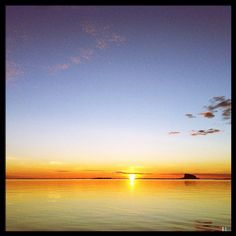 The sun past midnight. The #Lovund island in the horizon. #nordland #norway #æøå #webstagram
