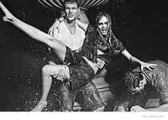 Cara Delevingne is back for her third season as the face of denim label Pepe Jeans' spring-summer 2015 campaign. The British stunner and two male models pose in all black and white photographs captured by Mario Sorrenti. Joined by a statue and some water fountains, the trio seems to have some fun in the campaign images and official video. And in case you missed it, check out