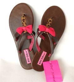 Betsey Johnson Leopard Print Sandals