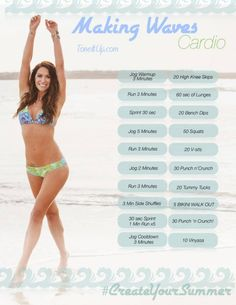 Making Waves Cardio Routine! This can be done anywhere, anytime with no equipment!