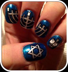 Hanukkah Nail Art Designs_05
