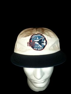Vintage 1990s Hanscom AFB 1995 Air Show Snapback by vintagestuff51