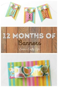 May Bow Banner - 12 Months of Banners - use the 123 punch board to create adorable bows to decorate your banner