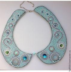 Купить Колье - воротник - украшение, украшения ручной работы, украшения из бисера, украшения из камней