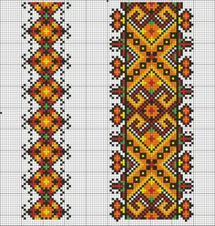 ru / Inserts for men's shirts - Inserts for men's shirts - valentinakp Cross Stitch Borders, Cross Stitch Charts, Cross Stitching, Cross Stitch Patterns, Folk Embroidery, Beaded Embroidery, Cross Stitch Embroidery, Embroidery Patterns, Bead Loom Patterns