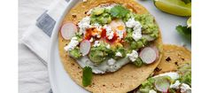 Breakfast Tacos with Avocado Radish Salsa