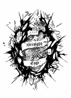 Straight edge tattoo by Cranealart on DeviantArt Straight Edge Tattoo, Till Death, Image Sharing, Dark Art, Art Photography, Goth, Darth Vader, Pure Products, Drawings
