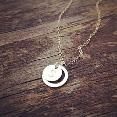 Eternity Circle Initial Necklace