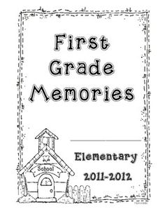 This is a memory book you can have your first grade students create at the end of the school year. ...