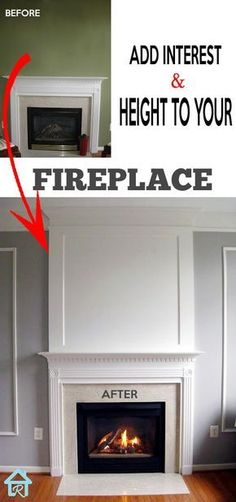 Easy way to add interest and height to your fireplace