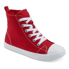 Boys' Paxton Hi-Top Canvas Sneakers Cat & Jack - Red 13, Boy's