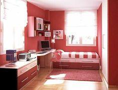 déco de chambre fille en couleurs vives