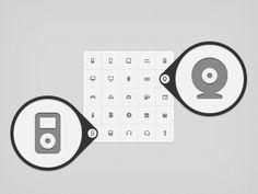Micro icon set. Via: http://drbl.in/esGE