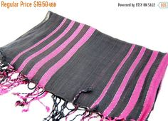 Striped scarf printed stripes scarf purple by BestOffersBoutique