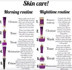 Skin care!  Morning/Night