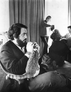 Un gato y Stanley Kubrick.