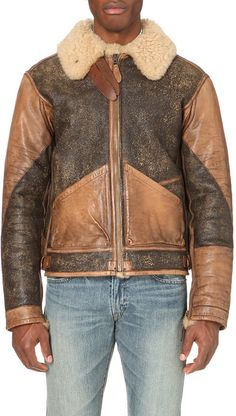 Ralph Lauren Shearling Bomber Jacket - for Men