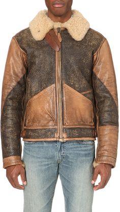 Ralph Lauren Shearling Bomber Jacket - for Men