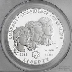 2013 Girl Scouts of the USA Centennial Silver Commemorative Proof Dollar NO COA