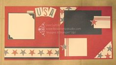 Celebrate your 4th of July and take a few pictures to capture the beauty of our freedom! Stampin' Up!, card, paper, scrapbook, craft, rubber, stamps, 12x12, double page, layout, memory, memories, stars and stripes, independence day, fireworks, USA, www.lisasstampstudio.com