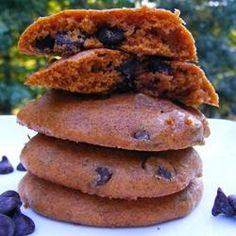 "Pumpkin Chocolate Chip Cookies III   ""If you like pumpkin pie and chocolate, you'll love these cookies. I think they taste best when they are cold  from the refrigerator."""