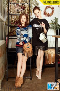 Hong Kong music group Twins, including Charlene Choi and Gillian Chung, releases their latest fashionable street shots. http://www.chinaentertainmentnews.com/2016/08/twins-release-new-photos.html