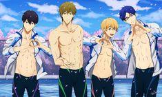 Iwatobi Swim Club Commission by Shaami Manga Art, Manga Anime, Hot Anime Boy, Anime Boys, Makoharu, Anime Group, Free Iwatobi Swim Club, Swim Team, Free Anime