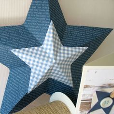 Large 3D Star by @KathyMcManusMartin using the #TemplateSrudio from @wermemorykeepers