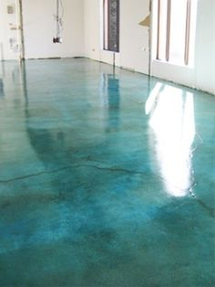 Stained concrete. Looks like water. cool