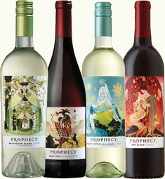 Prophecy Wines Sauvignon Blanc, Pinot Noir, Pinot Grigio & Red Blend > their labels are so pretty! Pinot noir was good, have to try the red blend next.