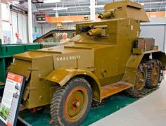 This Crossley Mk I armoured vehicle was developed in the twenties. It was considered inferior to the more popular Rolls Royce cars, although the Crossley models were used for training early in World War II.