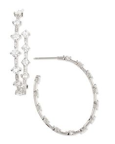 18k White Gold Pear-Shaped Diamond Hoop Earrings, 6.51 TCW by Maria Canale for Forevermark at Neiman Marcus.