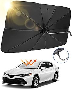 """Amazon has the JoyTutus Car Sun Shade for Windshield, Fit For Pickup MPV Truck, The 360° Rotation Bendable Shaft Foldable Car Sunshade Umbrella Sunshade Cover UV Block, Easy to Store and Use, 59""""x 33"""" marked down from $19.99 to $9.99. That is $10 off retail price! TO GET THIS DEAL: GO HERE to go to…"""